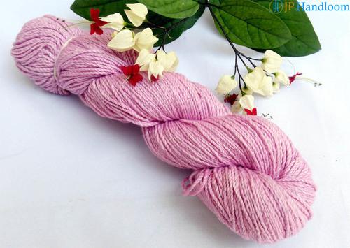 Pink Dyed 2 Ply Khadi Cotton Yarn