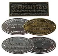Brass & Stainless Steel Etched Labels