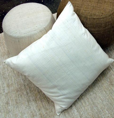 Indian Organic Eri Silk White Cushion Covers