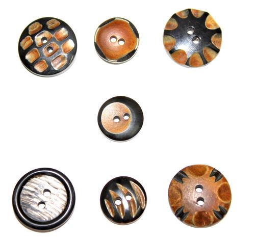 Fancy Horn Buttons
