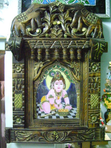 3D Jharokha Wooden Painting