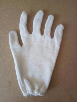 White Double Layered Gloves