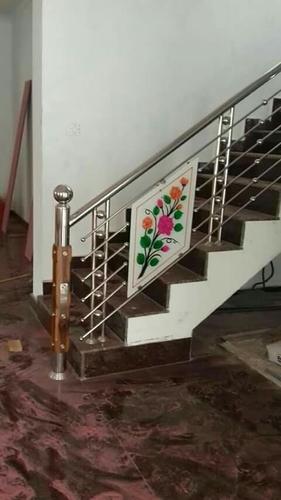 Designer Stainless Steel Stair Railing Al Saudiya Metal No 1