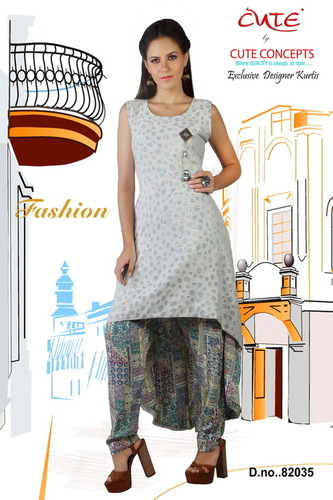 Magic Blue Cotton Kurti in  Dadar (W)