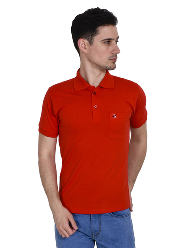 Red Half Sleeves Mens T Shirts in  Lajpat Nagar - Ii