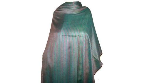 Silk Wool Multi Stripe Stoles