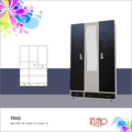 Three Door Steel Metal Almirah