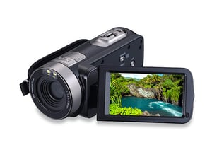 Portable 1080p HD Video Camera 301STR with touch screen
