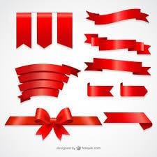 Red Color Ribbons
