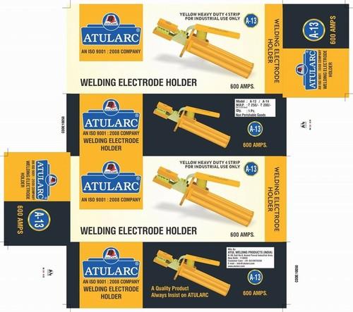 Yellow Heavy Duty 4 Strip Welding Holder
