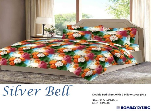 Bombay Dyeing Silver Bell Bed Sheets