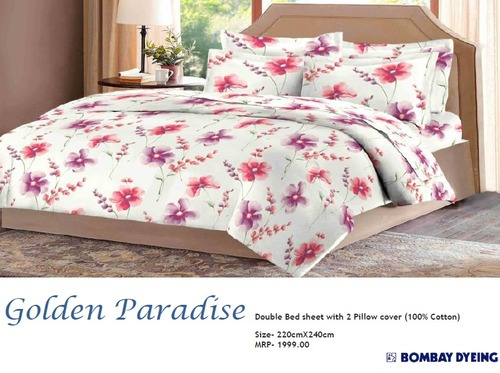 Golden Paradise Double Bed Sheets
