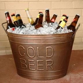 Galvanized Wine Tub