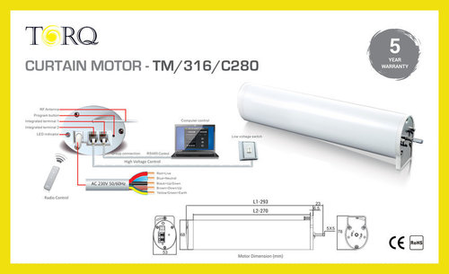 5 Wire Curtain Motors