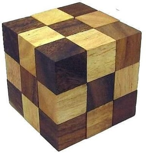 Wooden Puzzle Adult Snake Cube