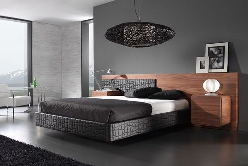 Modern Design American Walnut Black 5 Piece King Size Bedroom Set At Best Price In New York New York Harden Furniture Inc