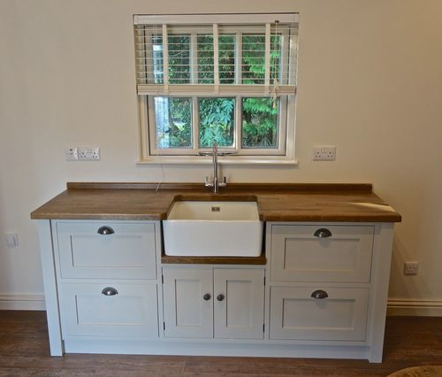 Painted Free Standing Kitchen Belfast Sink Unit Cupboards At Best Price In New York New York Harden Furniture Inc