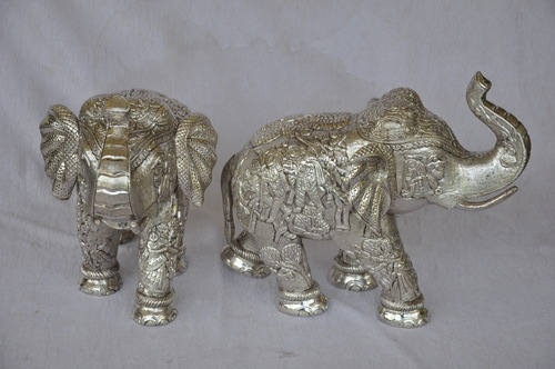Pure Silver Elephant Statues
