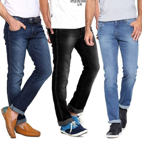 Designer Look Denim Jeans in   Near Sector - 3