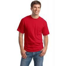 Red Cotton Mens T-Shirts