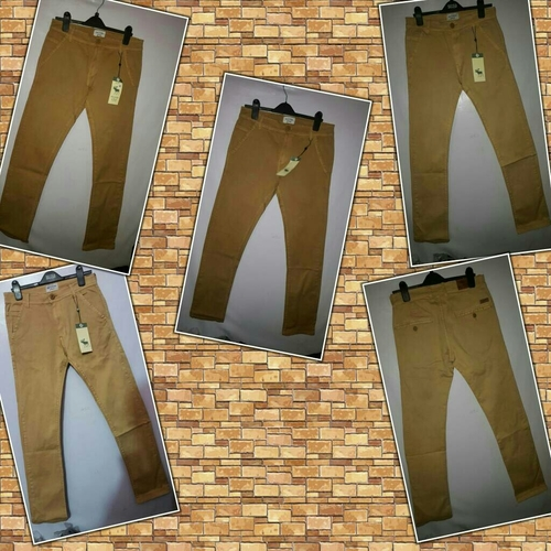 Stretchable Twill Cotton Trousers in  Behala