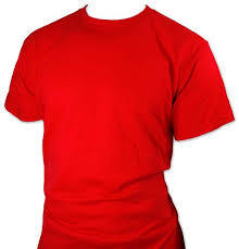 Stylish Round Neck Red T-Shirts