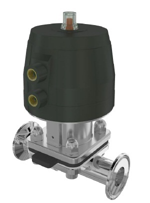 2-Way Diaphragm Valve Cast Stainless Steel Body Pneumatically Operated