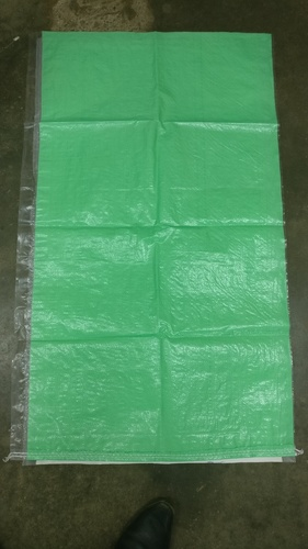 Laminated Green Colour 50 Kg PP Woven Bags