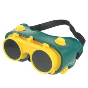 Safety Goggles Green/Yellow Weld Craft