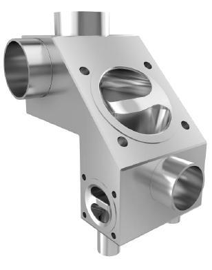 Forged Stainless Steel Body Multi-Port Diaphragm Valve