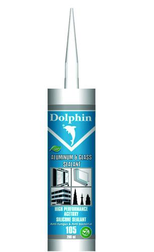 Dolphin 105 Aluminum & Glass Silicone Sealant