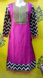 Zari Yolk Ladies Fancy Kurtis in  Sarangpur