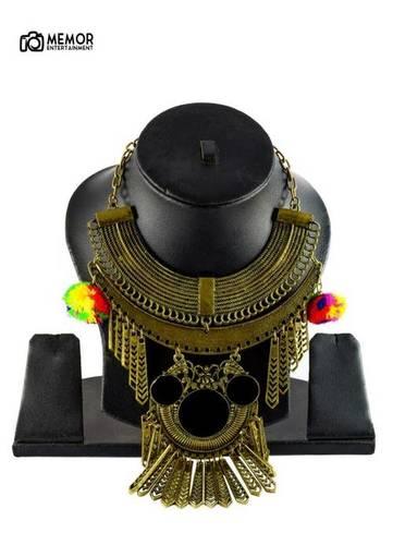 Golden Haaram Pams Necklace