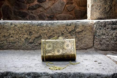Golden Metal Clutch