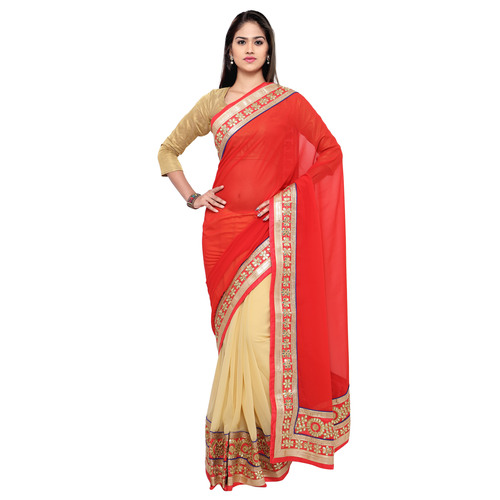 Georgette Gotta Patti Saree