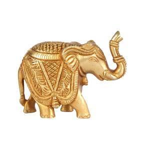 Swayambhu Brass Elephant Idol