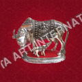 Decorative Metal Cow And Calf Statues