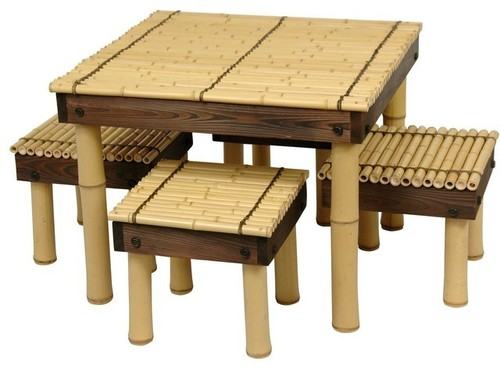 Bamboo Crafted Tea Table Set