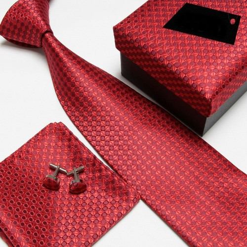 100% Silk Striped Pattern Men Necktie Sets