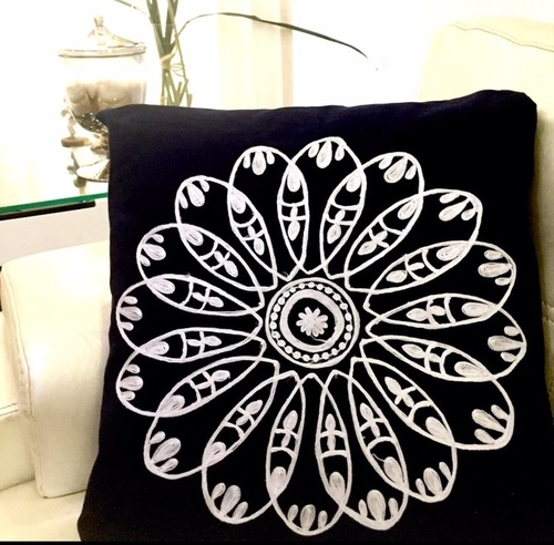 Crewel Embroidered Cushion Covers