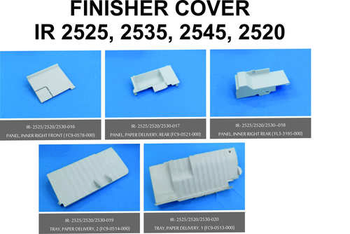 Canon IR 2525,2535,2545,2520 Finisher Cover 5Pcs Set at Best