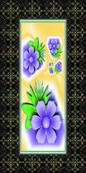 Flower Printed Paper Door Skin