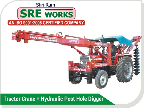 Tractor Crane And Post Hole Digger