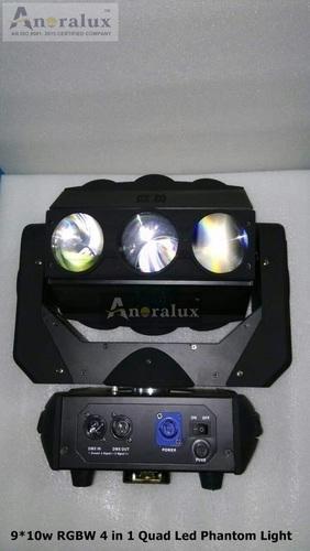 9x10w Rgbw 4in1 Quad Led Moving Head Phantom Light