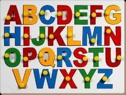 Eng Alphabets Uppercase With Knob - Toys Game
