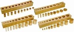 Montessori Knobbed Cylinder Blocks - Toys Game