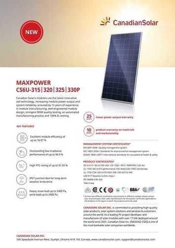 Solar Panels (Poly And Mono)