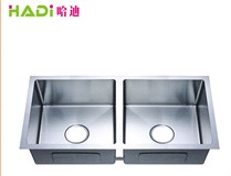 Brushed Undermount 50/50 Double Bowl Kitchen Sink HD11450H