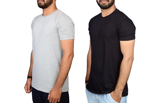 Half Sleeve Round Neck Cotton T Shirts in   Near Gaba place