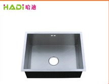 High End Kitchen Undermount Single Bowl Handmade Steel Sink HD6045H-V